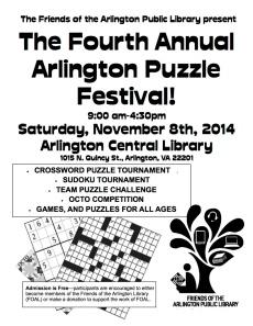 Puzzle Fest Pre-Flyer 2014