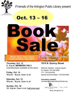 Arlington central library book sale